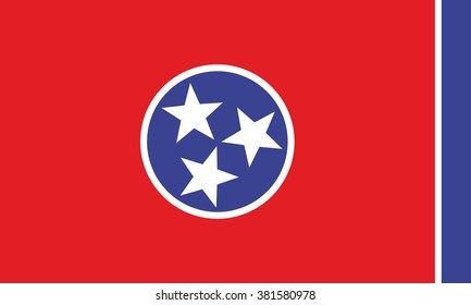 Vector Flag of the State of Tennessee