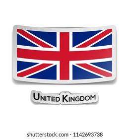 Vector flag sticker illustration of the United Kingdom.