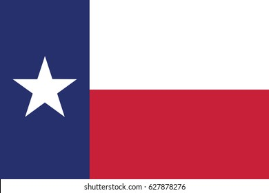 Vector flag of Texas state, EPS 10