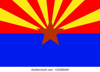 Vector flag of the United States of America State Arizona