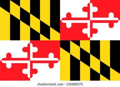 미국 메릴랜드의 벡터 국기