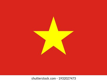 Vector flag of Vietnam. Accurate dimensions and official colors. Symbol of patriotism and freedom. This file is suitable for digital editing and printing of any size.