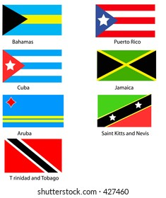 Vector Flags of the Caribbean.
