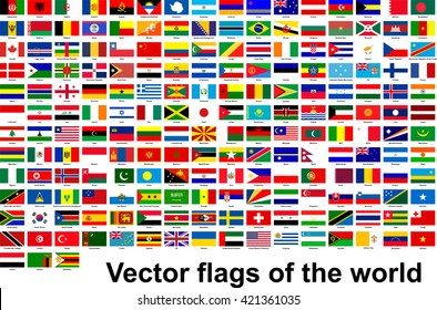 Vector flags of the world