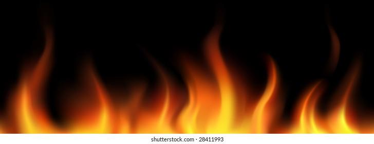 Vector. Flame seamless border