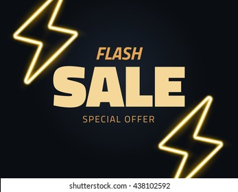 Vector flash sale vector illustration, background in retro style