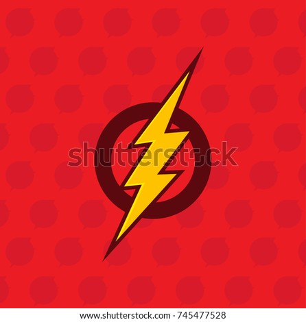 Vector Flash Symbol Speed Super Hero Stock Vector Royalty Free
