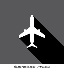 vector flat airplane icon . vector airplane symbol . travel by plane icon