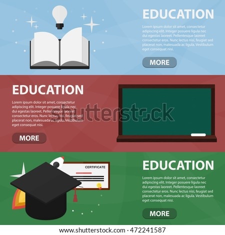 Educational Website Banners Home Appliance Banners