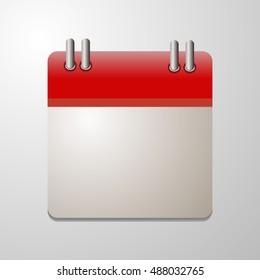 Vector flat calendar icon.