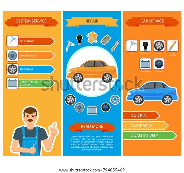 Car Repair And Maintenance >> Vector Flat Car Repair Maintenance Mechanics Royalty Free