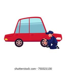 Funny Flat Tire Stock Illustrations Images Vectors Shutterstock