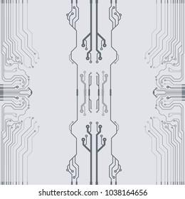 Vector flat circuit board illustration.