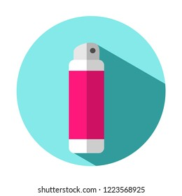 Vector flat colorful bright illustration icon of deodorant spray (antiperspirant)