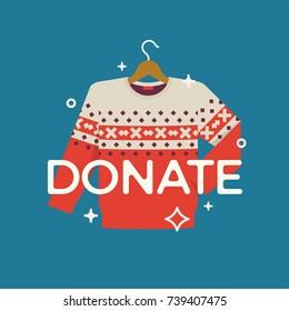 Sweaters Donate Stock Illustrations, Images \u0026 Vectors
