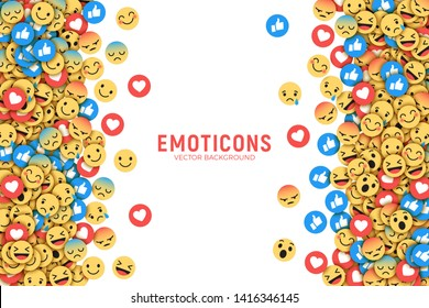 Vector Flat Design Modern Emoji Conceptual Abstract Art Illustration Isolated on White Background. Emoticons Abstract Background For SMM, CEO, Internet, Business, Application