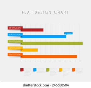 Vector flat design statistics column horizontal graphs