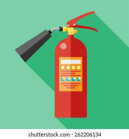 Vector flat fire extinguisher icon. Eps10