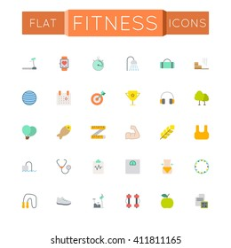 Vector Flat Fitness Icons