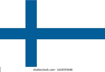 Vector flat flag of finland