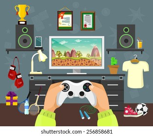Vector flat game illustration