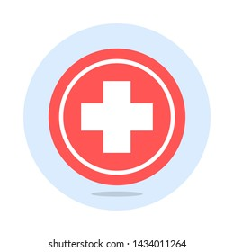 vector flat healthcare plus sign
