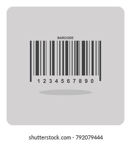Vector of flat icon, Bar code on isolated background.