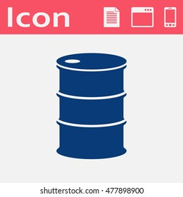 Vector flat icon barrels of oil