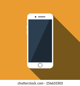 Vector flat icon of phone.