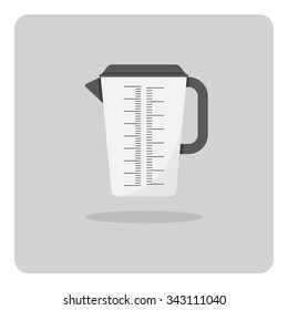 Vector of flat icon, Plastic jug on isolated background