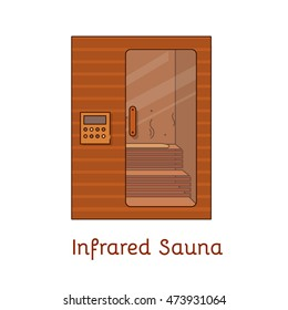 Vector flat icon - Sauna & Spa. Infrared Sauna.