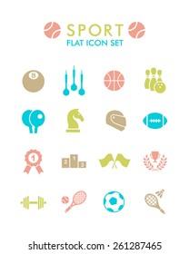 Vector Flat Icon Set - Sport