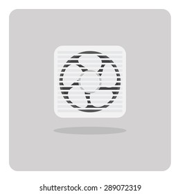 Vector of flat icon, ventilating fan on isolated background