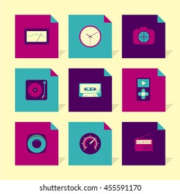 Vector Flat Icons Set - Gadgets