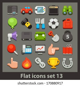 vector flat icon-set 13