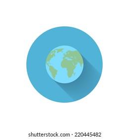 Vector Flat Icon.World