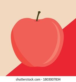 Vector flat illustration of an apple