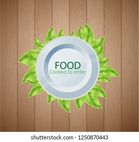 Vector flat illustration catering party with people hands and a table of dishes from the menu, top view Web site page and mobile app design