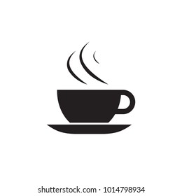 Vector flat illustration, coffee or tea cup  icon.