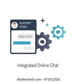 Vector Flat Illustration of a Live Chat for a Website