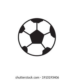 Vector Flat Illustration of Soccer Ball or football ball. Good for soccer or football poster, banner.