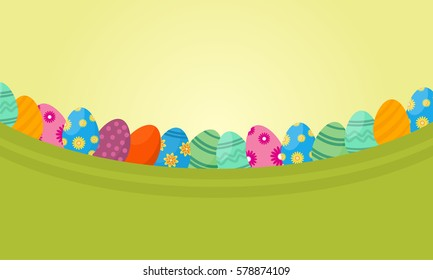 Vector flat of lined easter egg