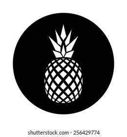 vector flat logo design of pineapple.