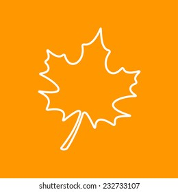 Vector flat  maple  leaf icon isolated outline. Eps10