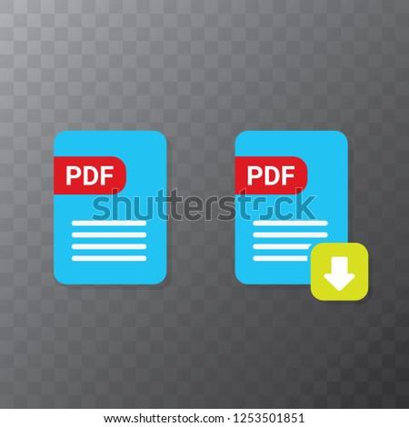 Vector Flat PDF File Icon Vector Stock Vector (Royalty Free