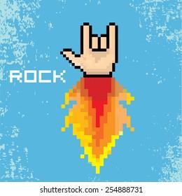 Pixel Art Guitar Images Stock Photos Vectors Shutterstock