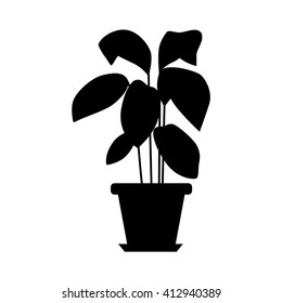 Vector flat plant pot illustration.