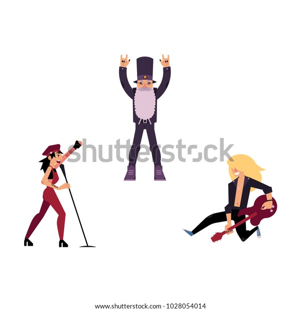Vector Flat Rock Music Culture People Stock Vector Royalty Free
