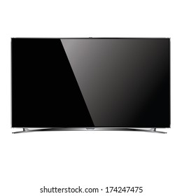 vector flat screen TV LCD, led plasma, monitor