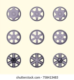 vector flat seamless pattern design illustration hubcap